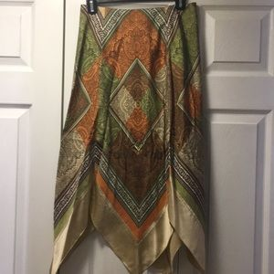 Kay Unger Silk Boho Skirt